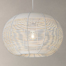 Buy John Lewis Bay Rattan Circular Shade, White Online at johnlewis.com