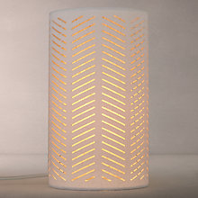 Buy John Lewis Breeze Two Layer Fabric Diffuser Table Lamp, Natural Online at johnlewis.com