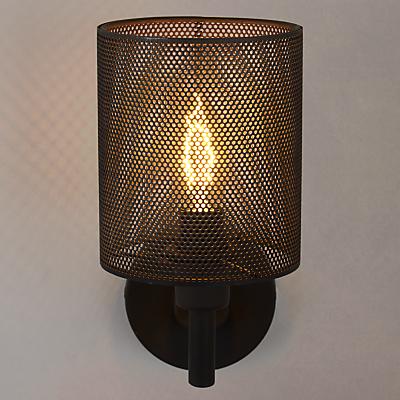 John Lewis Blake Steel Mesh Wall Light, Bronze