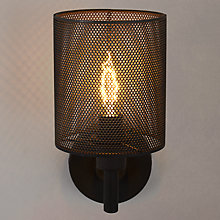 Buy John Lewis Blake Steel Mesh Wall Light, Bronze Online at johnlewis.com