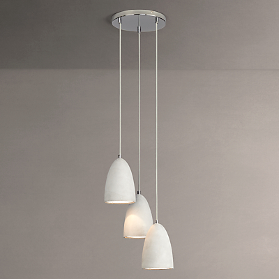 John Lewis Carey Concrete Dangles 3 Drop Ceiling Light