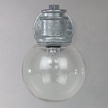 Buy John Lewis Battersea Globe Outdoor Wall Light, Galvanised Online at johnlewis.com