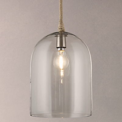 John Lewis Cloche Glass Pendant Ceiling Light