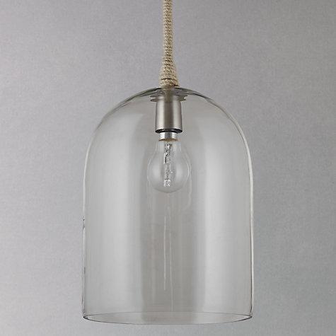 Buy john lewis cloche glass pendant ceiling light john lewis buy john lewis cloche glass pendant ceiling light online at johnlewis aloadofball Images