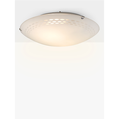 John Lewis Dash Flush Ceiling Light, White