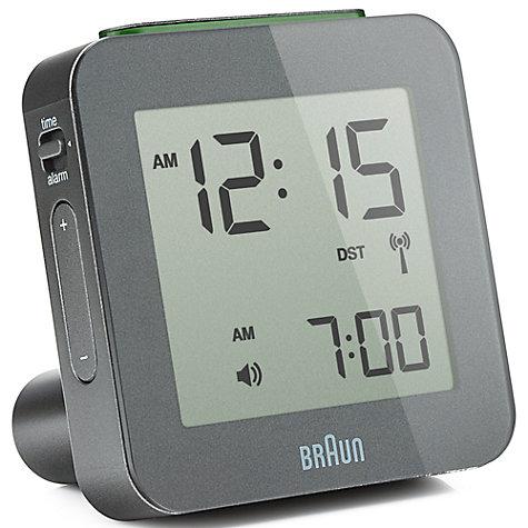 buy braun radio controlled global alarm clock john lewis. Black Bedroom Furniture Sets. Home Design Ideas