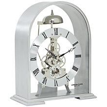 Buy London Clock Company Arch Skeleton Mantel Clock, Silver Online at johnlewis.com