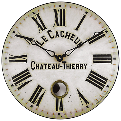 Image of Roger Lascelles Antique French Wall Clock with Pendulum, Dia. 41cm