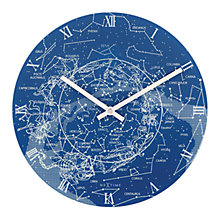 Buy NeXtime Glow in the Dark Milky Way Analogue Wall Clock, Dia. 30cm Online at johnlewis.com
