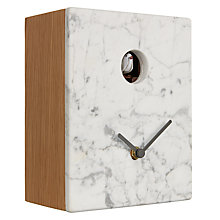 Buy Diamantini & Domeniconi Portobello Marble Cuckoo Clock, 21 x 16cm Online at johnlewis.com