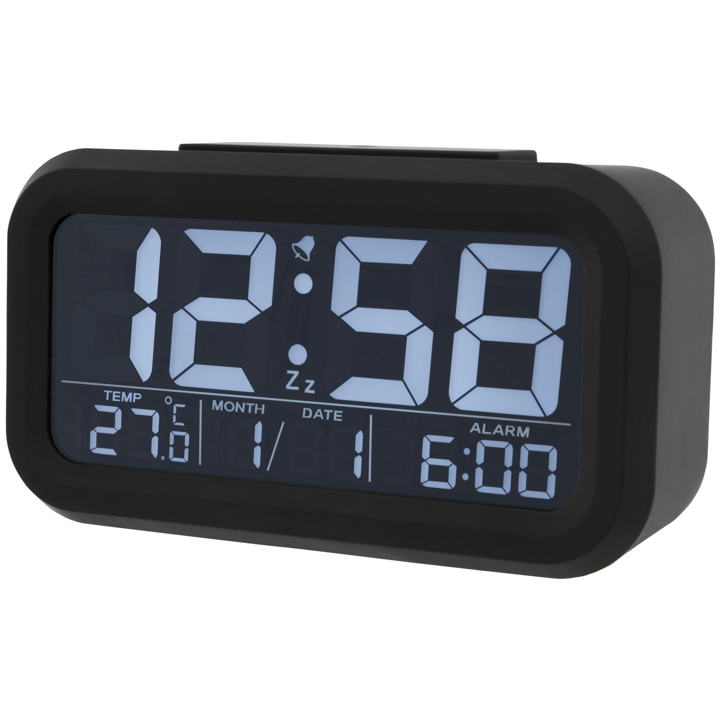 Acctim Acctim Meto Multifunction LCD Alarm Clock, Black