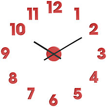 Buy House by John Lewis Movable Sticky Numbers Wall Clock, Red Online at johnlewis.com