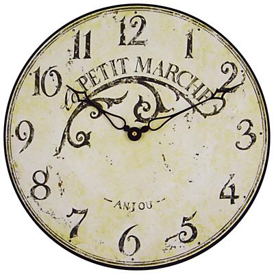 Image of Lascelles Le Petit Marche Clock, Cream, Dia. 36cm