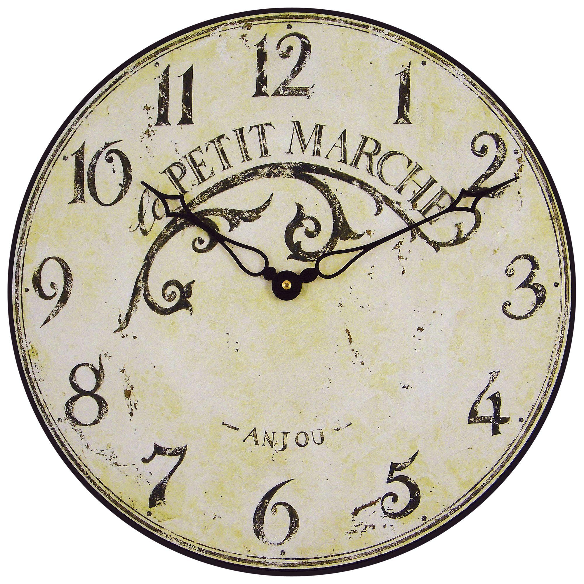 Lascelles Lascelles Le Petit Marche Clock, Cream, Dia. 36cm