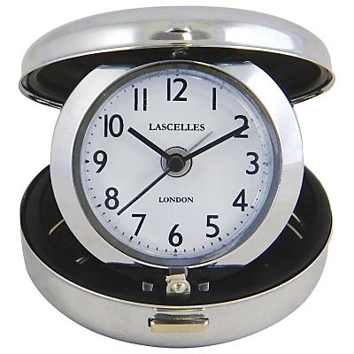 Image of Roger Lascelles Compact Travel Alarm, Silver, Dia. 7cm