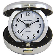 Buy Roger Lascelles Compact Travel Alarm, Silver, Dia. 7cm Online at johnlewis.com