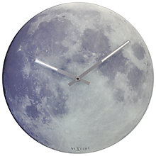Buy NeXtime Glow in the Dark Moon Analogue Wall Clock, Dia. 30cm Online at johnlewis.com