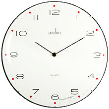 Buy Acctim Manhattan Domed Wall Clock, Dia. 33cm Online at johnlewis.com