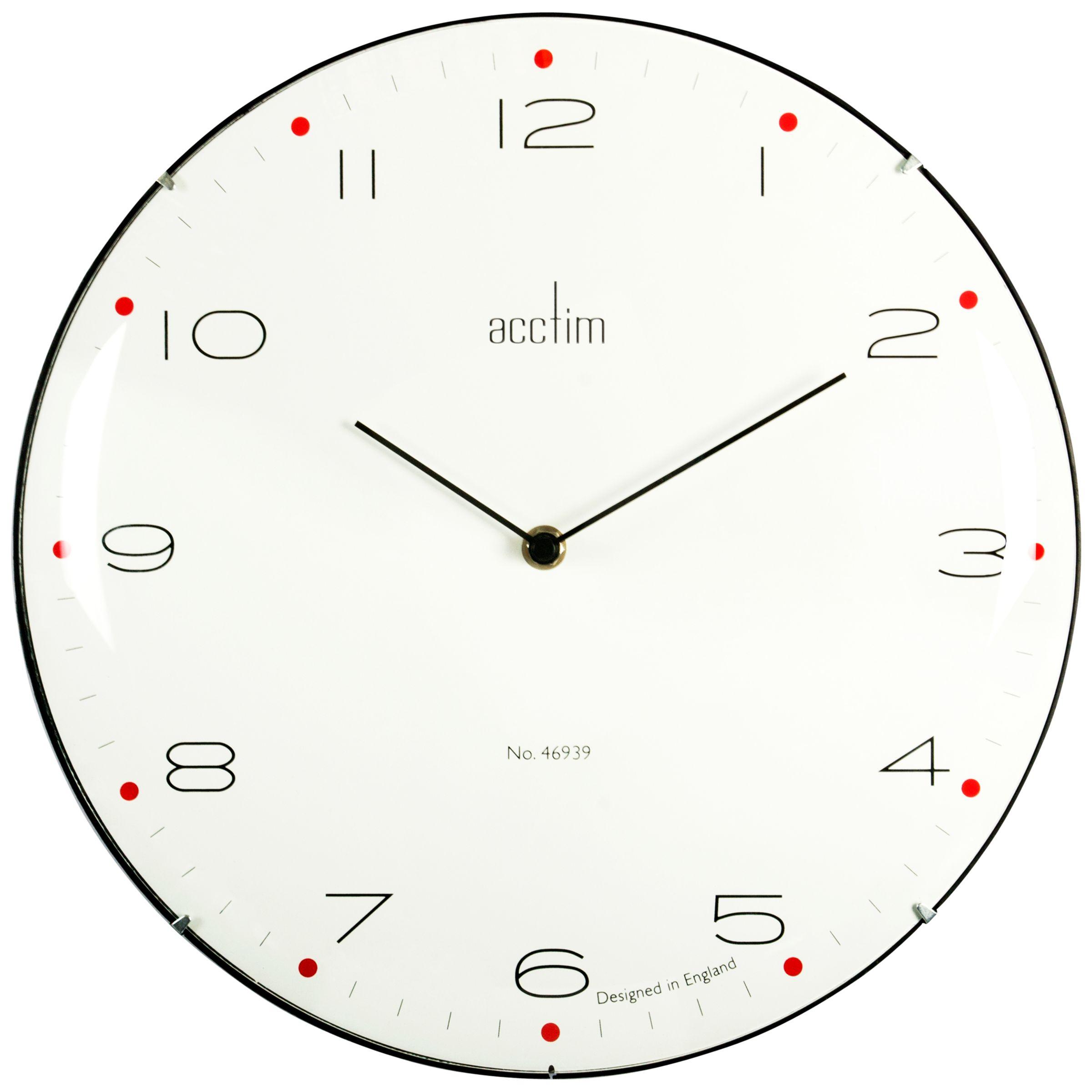 Acctim Acctim Manhattan Domed Wall Clock, Dia. 33cm