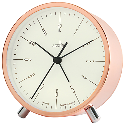 Acctim Evo Alarm Clock, Copper
