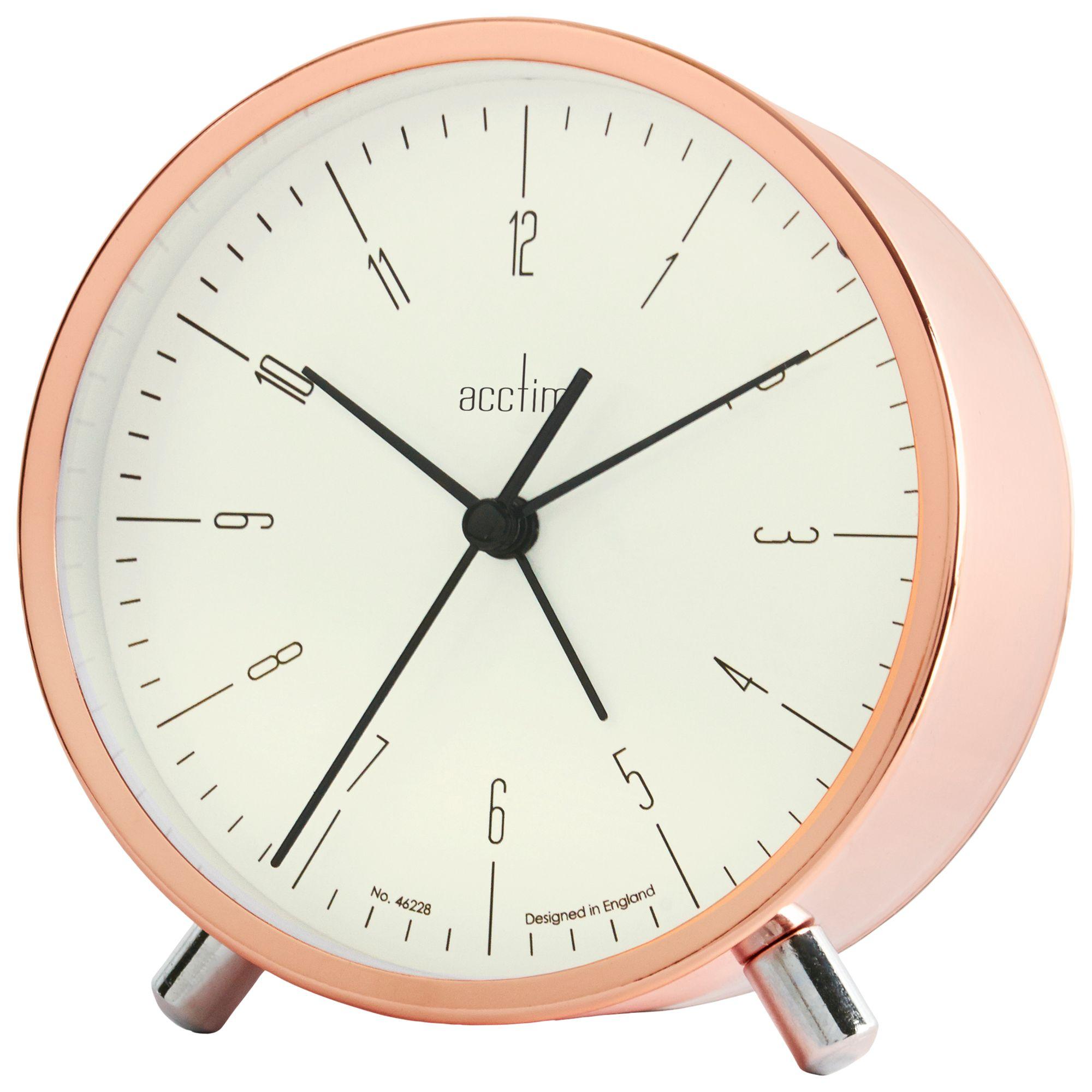 Acctim Acctim Evo Alarm Clock, Copper