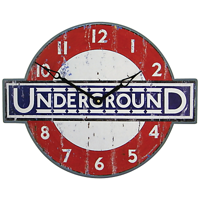 Image of Roger Lascelles London Underground Wall Clock, 45.5 x 36cm