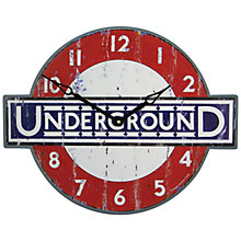 Buy Roger Lascelles London Underground Wall Clock, 45.5 x 36cm Online at johnlewis.com