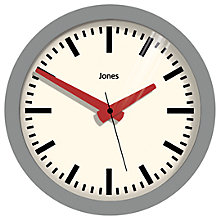 Buy Jones Atlas Wall Clock, Dia.28cm Online at johnlewis.com