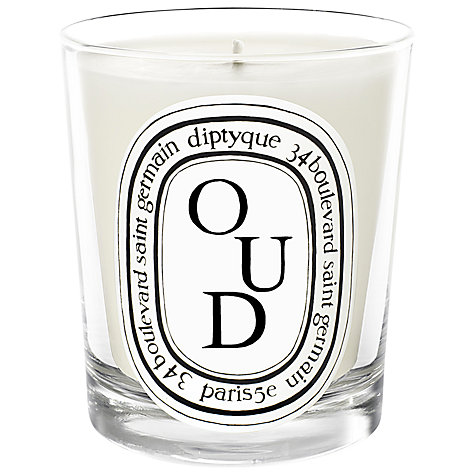 Buy diptyque oud scented candle 190g john lewis for Where to buy diptyque candles