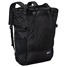 Buy Patagonia Lightweight Travel 20L Tote Pack, Black Online at johnlewis.com