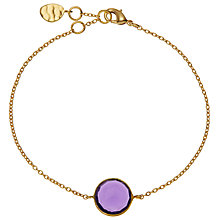 Buy John Lewis Gemstones 18ct Gold Semi Precious Stone Bracelet, Hydro Amethyst Online at johnlewis.com