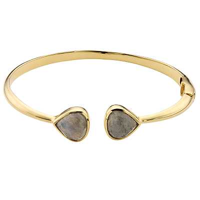 John Lewis Gemstones 18ct Gold Hinged Semi-Precious Stone Bangle
