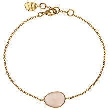 Buy John Lewis 18ct Gold Organic Single Stone Bracelet, Rose Chalcedony Online at johnlewis.com