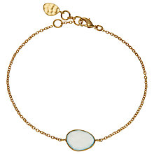 Buy John Lewis 18ct Gold Organic Single Stone Bracelet Online at johnlewis.com