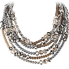 Buy Dyrberg/Kern 6 Row Bead Necklace, Silver Online at johnlewis.com