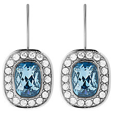 Buy Dyrberg/Kern Swarovski Crystal Drop Earrings, Silver/Blue Online at johnlewis.com