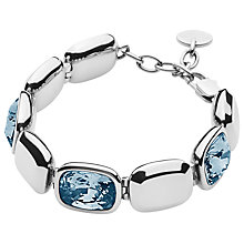 Buy Dyrberg/Kern Swarovski Crystal Theatre Bracelet, Silver/Blue Online at johnlewis.com