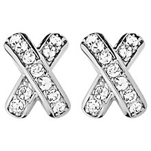 Buy Dyrberg/Kern Cross Diamante Stud Earrings Online at johnlewis.com