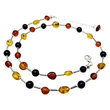 Buy Goldmajor Sterling Silver Bead Collar Necklace, Amber Online at johnlewis.com