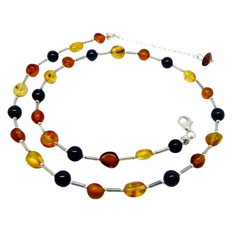 Goldmajor Goldmajor Sterling Silver Bead Collar Necklace, Amber