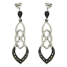 Buy Goldmajor Sterling Silver Marcasite Link Drop Earrings, Silver Online at johnlewis.com