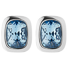 Buy Dyrberg/Kern Swarovski Crystal Stud Earrings, Silver/Blue Online at johnlewis.com