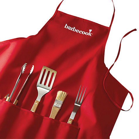 buy barbecook apron with 4 piece tool set john lewis. Black Bedroom Furniture Sets. Home Design Ideas