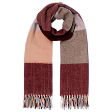 Buy Whistles Modern Check Blanket Scarf, Pale Blue Online at johnlewis.com