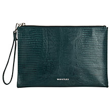 Buy Whistles Lizard Wristlet, Dark Green Online at johnlewis.com