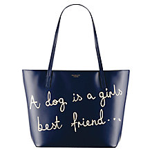 Buy Radley Best Friend Leather Tote, Navy Online at johnlewis.com