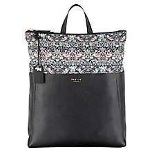 Buy Radley Liberty Leather Backpack, Black Online at johnlewis.com