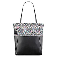 Buy Radley William Morris Collection Leather Tote Bag, Black Online at johnlewis.com