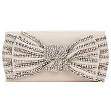 Buy John Lewis Beaded Bow Clutch, Nude/Gold Online at johnlewis.com