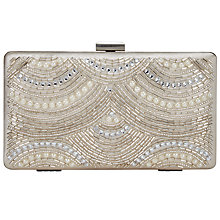 Buy John Lewis Toni Box Clutch Bag, Cream Online at johnlewis.com